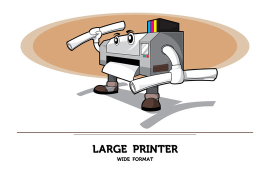 Printer or plotter with gray color and white space
