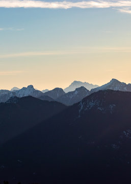 Mountain view from Mount Seymour near Vancouver BC