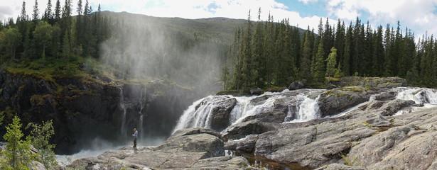 Rjukan Falls / Rjukanfossen waterfall near Rjukan, Norway.