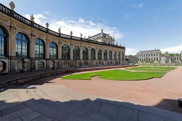 Fototapete - Dresden: Zwinger und Porzellansammlung