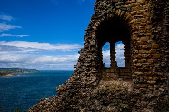 Ruin of Medieval Scarborough Castle in North Yorkshire.