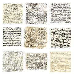 Set of handwriting files, vector