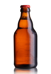 a small bottle of beer