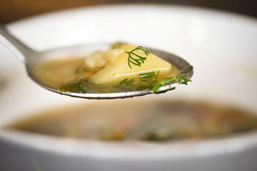 Fototapeta Ziemniak w zupie obraz