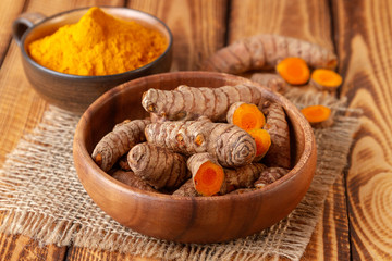 turmeric in close up