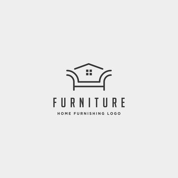 furniture logo design vector icon illustration icon isolated