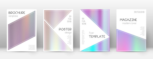 Flyer layout. Triangle beauteous template for Broc Wall mural