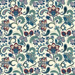 Seamless vector paisley pattern