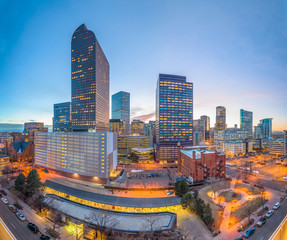 Fototapete - Denver, Colorado, USA downtown cityscape