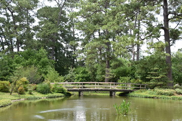 Japanese Garden at Hermann Park in Houston, Texas