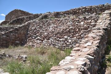Fototapeta Cottonwoood, AZ., U.S.A. Aug. 1, 2017. Tuzigoot National Monument. 2-3 store pueblo of 110-rooms. Built circa 1125-1400 CE. obraz