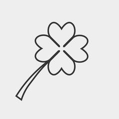 Clover vector icon illustration sign