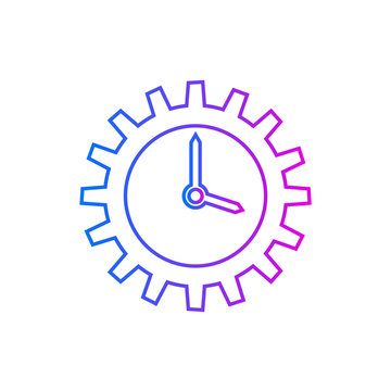time management, efficiency vector icon on white background