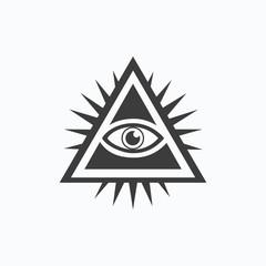 All-seeing eye. Vector illustration. EPS 10.