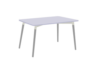Multi purpose table isolated on white background.