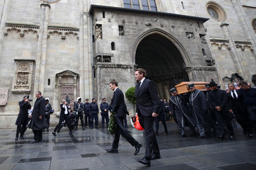 Niki Lauda's funeral ceremony at St Stephen's cathedral in Vienna