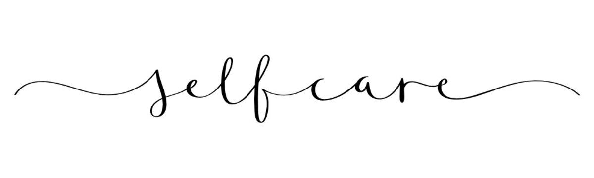 SELF-CARE vector brush calligraphy banner
