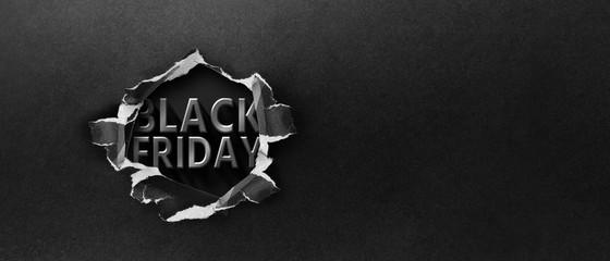 Restrained elegance banner for sales on Black Friday. Rectangular banner. Sale poster of black friday. Design home page sliders for black friday sales on red background. 3D