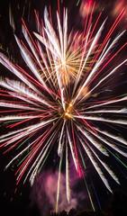 Feuerwerk Rot Orange Weiß