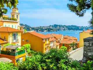 Landscape of the Cote d'Azur, Villefranche-sur-Mer, France