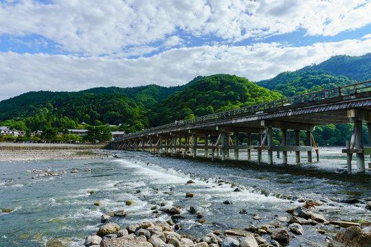 landscape of Arashiyama district in Kyoto Japan