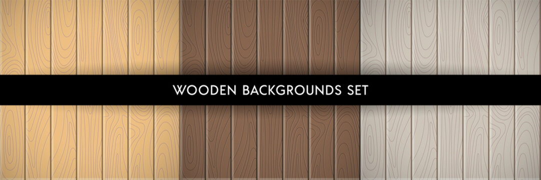 Set of wood textured backgrounds
