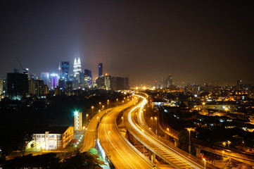 Wall Murals Kuala Lumpur Kuala Lumpur nightscape