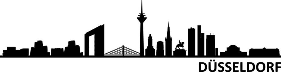 Düsseldorf City Skyline Silhouette