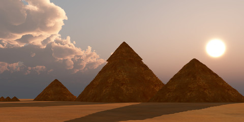 Giza Plateau - The Great Pyramid of Egypt is the Pharaoh Khufu's tomb and is located near Cairo on the Giza Plateau.