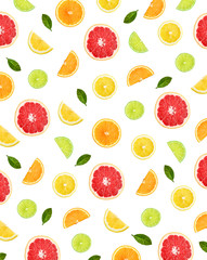Wall Mural - Colorful pattern of citrus fruit