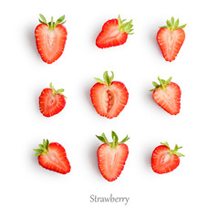 Wall Mural - Seamless pattern with strawberry.