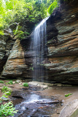 Moore Cove Falls in North Carolina (vertical)
