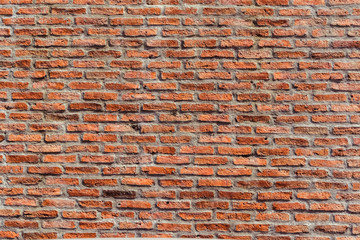 Red brick wall Texture Design. Empty red brick Background for Presentations and Web Design. A Lot...