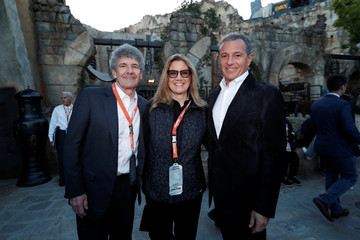 "Walt Disney's Chief Creative Officer Alan Horn and Chief Executive Officer Bob Iger, along with Horn's wife Cindy, pose for a photo as ""Star Wars: Galaxy's Edge"" opens at Disneyland Park in Anaheim"