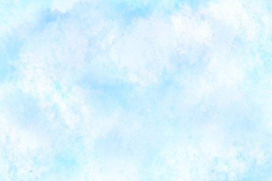 水彩風背景 青
