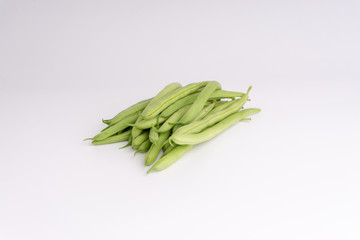 Deurstickers Lelietje van dalen Green bean bunch closeup. Fresh Green bean Also known as French beans, string beans, snap bean, snaps and haricots vert.