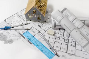 Bauplanung, Bauzeichnungen Entwürfe für den Hausbau