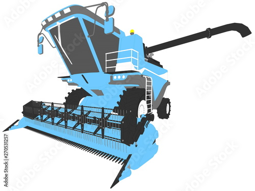 industrial 3D illustration of cartoon colored 3D model of