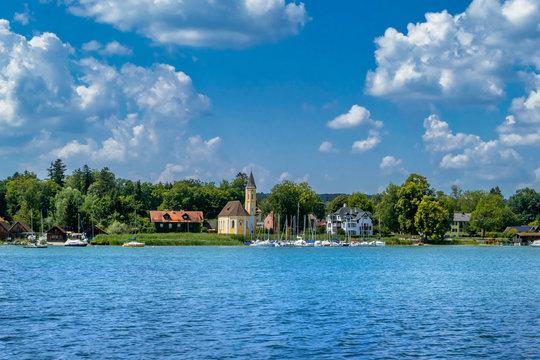 Church at the Lake Ammersee, Bavaria, Germany