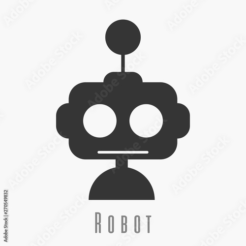 Robot icon  Robot cute icon  New trendy robot graphic symbol