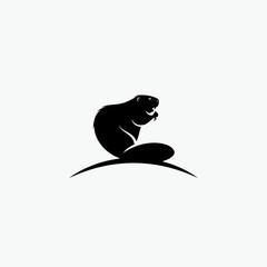 Beaver symbol - vector illustration - Vector