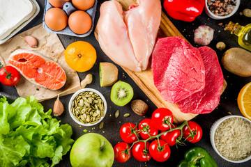 Door stickers Buffet, Bar Fodmap healthy diet food
