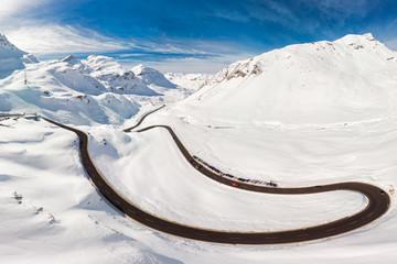Wall Mural - Julier mountain pass near Sankt Moritz, Grisons, Switzerland, Europe