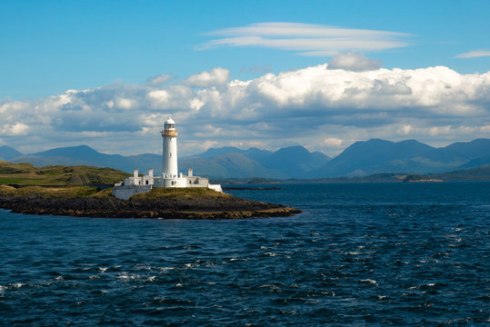 Lighthouse on the Isle of Lismore Inner Hebrides Scotland