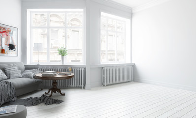 Furnished apartment (draaft) - 3d visualization
