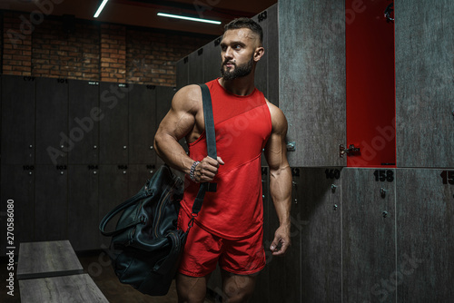 Working out in the locker room