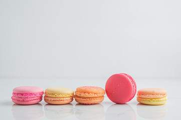 Colourful Macaroons on table