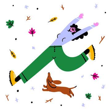 Autumn dog run