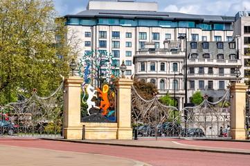 Hyde park entrance gates, London, UK