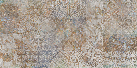 vintage floral background, patchwork, ager wallpaper pattern